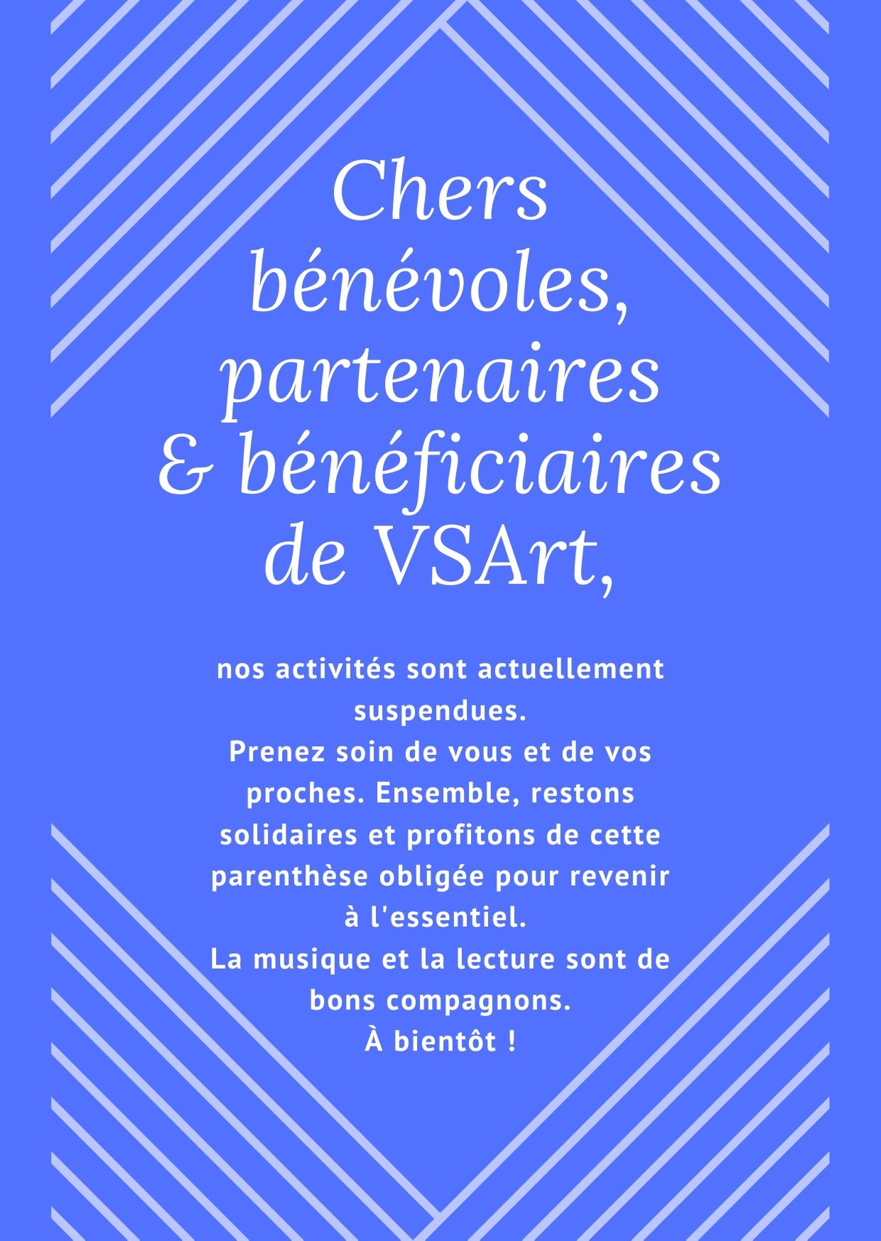 Annonce fermeture VSArt